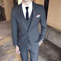 西服套装男结婚礼服新郎西装伴郎服职业正装休闲西装三件套潮