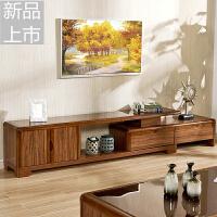 实木电视柜 茶几组合中式现代简约客厅储物柜卧室组装钢化家具柜定制定制 组装