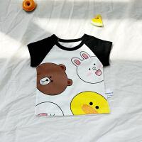 男童时尚短袖T恤女童宝宝体恤夏装0小童夏天2婴儿童装上衣1-3岁潮