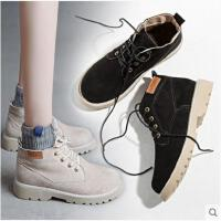 马丁靴女短靴新款秋冬季韩版百搭机车靴英伦风复古沙漠女靴
