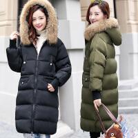 棉衣女中长款冬装2017新款女士韩版连帽外套学生潮流棉袄