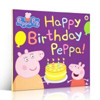 粉红猪小妹 小猪佩奇 英文原版 Peppa Pig Happy Birthday 佩佩猪生日快乐 平装故事书