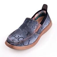 老北京布鞋男款休闲鞋流行男鞋软底透气牛仔单鞋