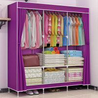 索尔诺大号布衣柜 简易衣柜 加厚面料折叠布衣橱