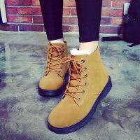 雪地靴女短靴短筒棉鞋女学生加绒加厚保暖马丁靴子