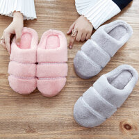 棉拖鞋女居家用厚底加绒包跟月子室内可爱情侣男士保暖毛拖鞋
