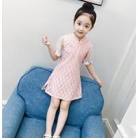 女童连衣裙夏装儿童碎花网纱公主裙女孩蕾丝纱裙洋气裙子