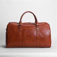 冬季新款牛皮旅行包男包商务休闲时尚手提包斜跨包百搭行李包出差大容量包男包