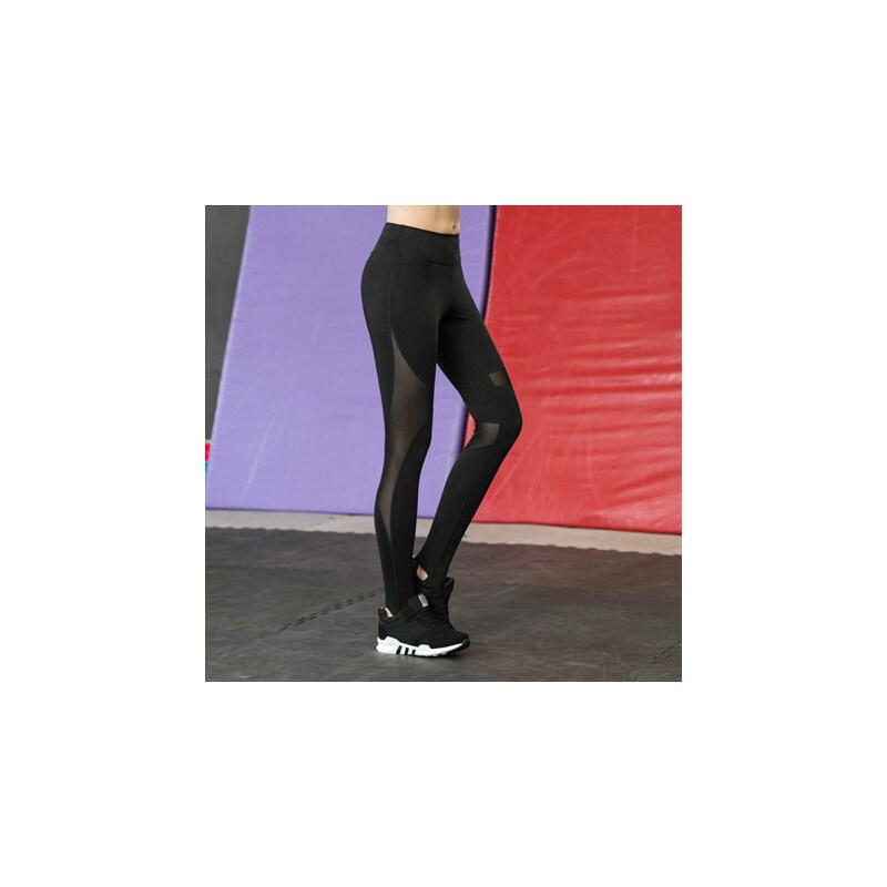 大码紧身运动长裤女夜跑提臀健身裤胖mm 速干弹力修身瑜伽跑步裤