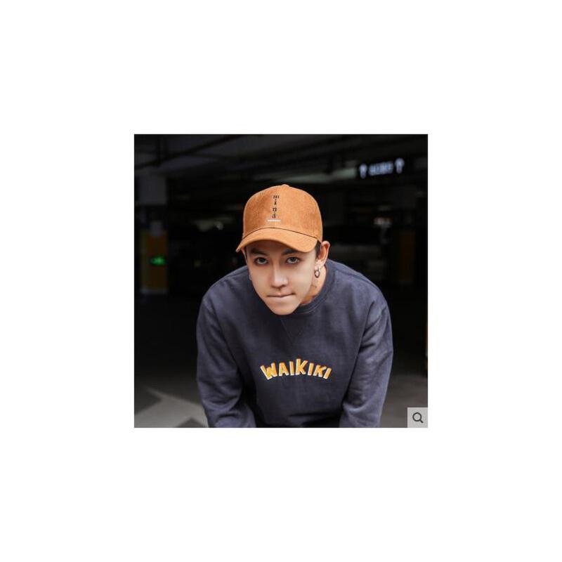 帽子男秋冬潮流鸭舌帽韩版休闲百搭街头潮人青年棒球帽男生嘻哈帽