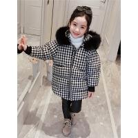 韩版童装女孩格子洋气棉袄儿童加厚外套女童冬装棉衣