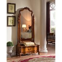 欧式实木试衣镜 美式乡村穿衣镜卧室雕花穿衣镜c17 美式实木穿衣镜高品质专享价 其他