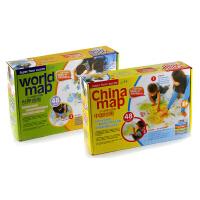 少儿地板大拼图(中国地图+世界地图2盒套装)