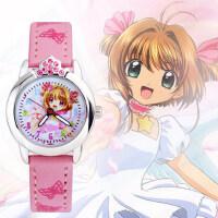 卡通表皮带小学生表 韩版可爱儿童手表女石英表 时尚女童小魔仙手表