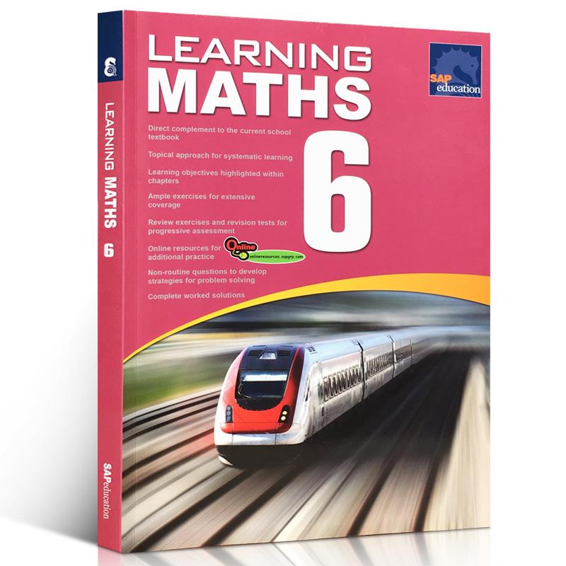 英文原版 SAP Learning Maths 6 新亚数学综合练习册 小学六年级 初中适合