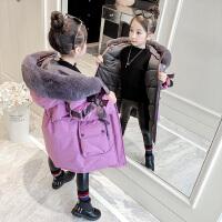 小女孩棉袄儿童洋气中长款童装女童冬装棉衣外套