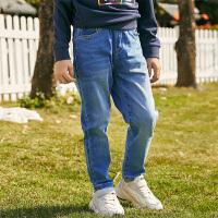 【2件3折价:93】小猪班纳童装男童长裤2020春季新款儿童牛仔裤百搭基础款单长裤潮