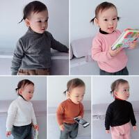 冬季儿童装宝宝高领套头加绒打底衫百搭款毛衣线衣女童装