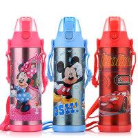迪士尼不锈钢儿童保温杯600ml学生大容量直饮便携水杯子创意可爱保温壶GX-5754