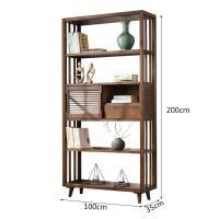 北欧实木书架简约现代实木书柜陈列架储物柜家用书房家具