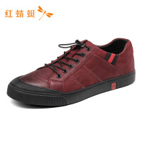 红蜻蜓男鞋春秋新款撞色帅气系带防滑时尚舒适休闲潮鞋男-