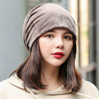 帽子女韩版潮百搭套头帽学生潮时尚休闲护耳帽成人睡帽孕妇月子帽