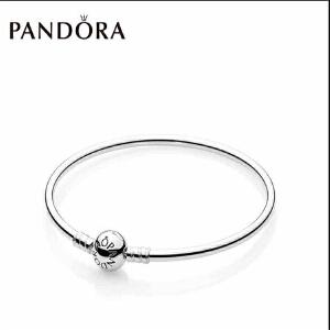 潘多拉Pandora银手链DIY字母基础手镯情人节礼物女士590713