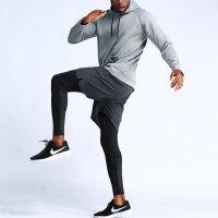 健身服宽松速干套装运动跑步篮球训练衣服连帽卫衣套装