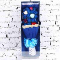 送朋友 圣诞节浪漫创意情人节礼物11号四色可选香皂花仿真玫瑰礼盒永生花玫瑰花束送闺蜜
