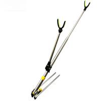 不锈钢炮台钓鱼竿支架带地插钓箱手竿架杆架竿钓鱼垂钓用品