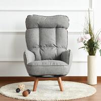 20190614031324034日式单人布艺休闲榻榻米懒人沙发电脑转椅孕妇喂奶哺乳高靠背坐椅