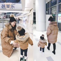 亲子装母子装2017新款加绒卫衣外套装潮全家装母女装秋冬装冬季