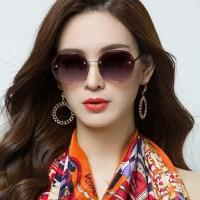 女士偏光遮阳太阳镜 女潮防紫外线眼镜 新款偏光太阳镜圆脸女士长脸墨镜