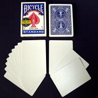 单车扑克纸牌 魔术扑克牌道具白面扑克大全 可开扇花切
