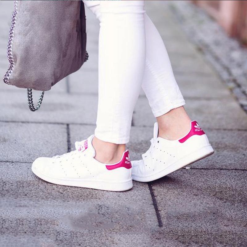 韩国直邮正品 Adidas/阿迪达斯男女板鞋 Stan Smith 粉尾 B32703*赔十