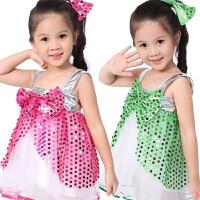 六一儿童节演出服幼儿园舞蹈服装女环保表演服亮片裙爵士舞蓬蓬裙