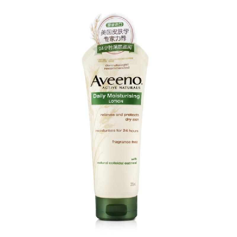 Aveeno 艾惟诺成人天然燕麦每日倍护润肤乳(无香型)225ml 身体乳洗护用品