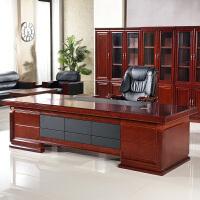 办公家具油漆办公桌贴实木皮大班台老板桌简约主管桌椅组合总裁桌