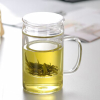 耐�岵AП� ���w�^�V透明水杯 三件式套杯 花茶杯茶具泡茶杯子透明水杯花茶杯家用玻璃杯