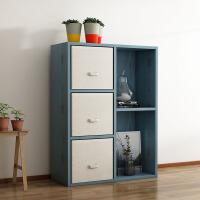 【满减优惠】简约现代玩具收纳柜储物柜木质柜子家用书架置物架带抽格子柜