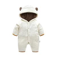 春秋冬季装新生儿婴幼儿衣服0岁7月宝宝哈衣爬服冬季连体衣