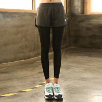 大码胖mm200斤九分运动裤女弹力紧身健身裤跑步瑜伽休闲长裤
