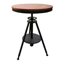 复古铁艺咖啡厅组合馆冷饮奶茶店桌椅甜品接待洽谈会客实木小圆桌