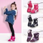 UOVO新款儿童雪地靴童鞋男童鞋女童靴子亲子鞋儿童童靴中低筒雪地靴 雪花