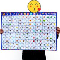 宝宝识字挂图全套启蒙早教认知儿童墙贴 婴幼儿0-3岁看图识字卡片
