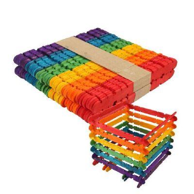 冰激凌杆压舌板 雪糕棒手工制作材料冰棍棒模型工具小木片木棍棒雪糕
