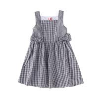 小猪班纳童装女童连衣裙纯棉2020夏季新款洋气格子裙中大童女孩裙