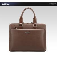 男包手提包横款商务公文包休闲电脑包牛皮男士包