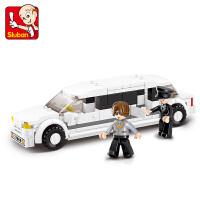【当当自营】小鲁班模拟城市系列儿童益智拼装积木玩具 豪华礼宾车M38-B0323