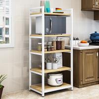 厨房置物架三层微波炉架子落地式多层四层调味料收纳架五层烤箱架